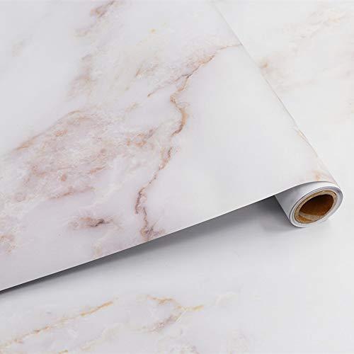 Hode Marmor Folie Selbstklebende Designfolie Klebefolie, 40 cm X 300 cm, Vinyl Aufkleber für...