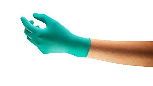 Ansell TouchNTuff 92-600 Einweg-Handschuhe in Nitril, Einmal-Handschuhe, Chemikalien- und Lebensmitteln-Industrie, Grün Größe 7.5 - 8 (Spender mit 100 Handschuhen)