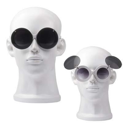 Yiph-Sunglass Sonnenbrillen Mode 2-in-1 Clip-on-Klapplinse Weißer Rahmen Brille