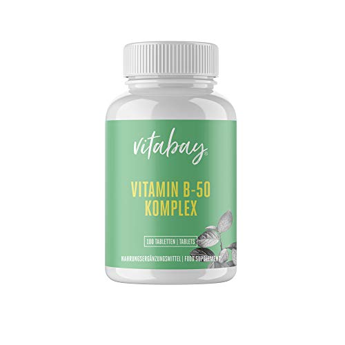 Vitamin B-50-100 Tabletten - Hochdosierter Vitamin B-Komplex - enthält alle B-Vitamine - mit PABA