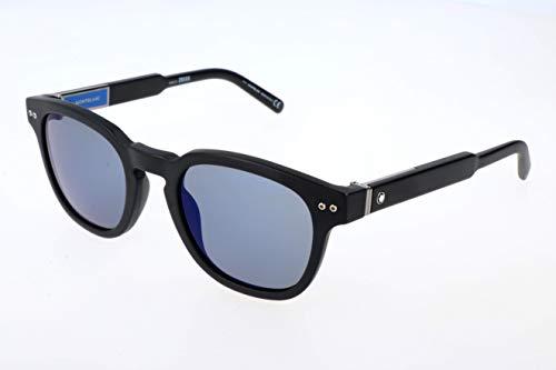 Montblanc Unisex-Erwachsene Mont Blanc Sonnenbrille, Black, 50