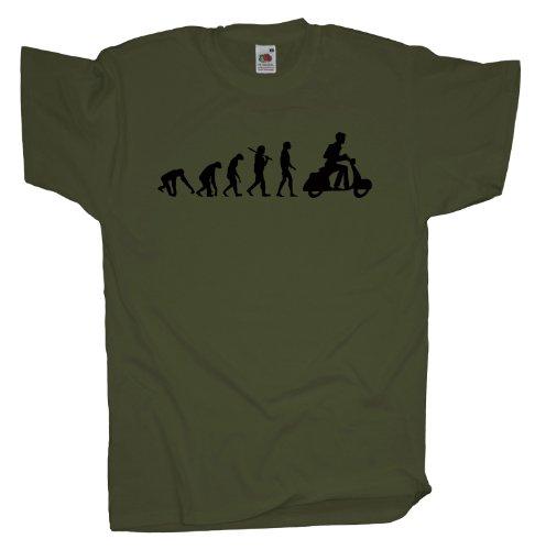 Ma2ca - Evolution - Motorroller T-Shirt Olive
