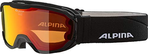ALPINA Kinder Pheos MM Skibrille, Black, One Size