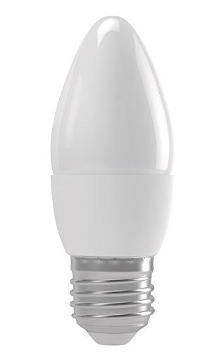 EMOS LED Glühlampe Classic Candle 4W E27 warmweiß, Glas W, Transparent, 4,4 x 4,4 x 11 cm