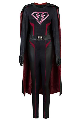 MingoTor Weiblicher Superheld Superhero Outfit Cosplay Kostüm Jumpsuit +Cape Maßanfertigung