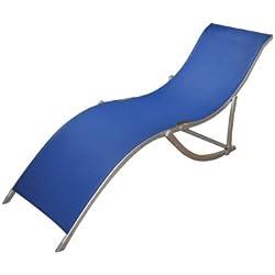 papillon 8044160 - Tumbona playa aluminio anatómica sia azul