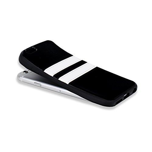 iPhone 7 Hülle, Conie Mobile Backcover für iPhone 7 Rückschale Sport Design Case Schutzhülle aus TPU Silikon in Braun Braun