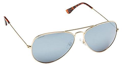 Cressi Unisex Nevada Sports Sunglasses, Gold/Grey Lens, Uni