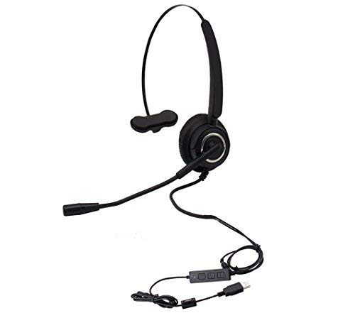 callany Computer USB-Headset Over-Ear Freisprech Wired Kopfhörer mit Noise Cancelling Mikrofon Business Headset für Call Center VH510 USB Monaural Headset Usb Monaural Pc Headset