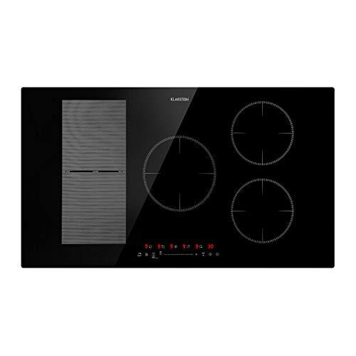 KLARSTEIN Delicatessa 90 Hybrid • Piano Cottura da Incasso • Piastra Induzione • Incasso • 5 Zone • 7000W • Pannello Touch • Flex Zone • Rilevamento Pentole • Timer Spegnimento • Vetroceramica • Nero