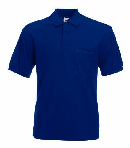 Fruit of the Loom Pocket Pique Polo Shirt XXL Navy - Pocket Pique Polo-shirt
