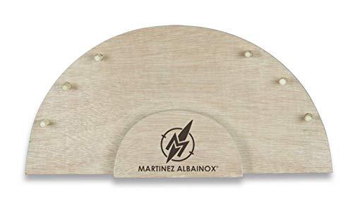 Expositor peana de Madera para cuchilleria 6 Navajas para Caza, Pesca, Camping, Outdoor, Supervivencia y Bushcraft Albainox 90087 + Portabotellas de regalo