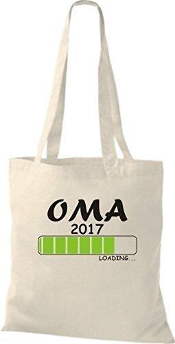 ShirtInStyle Sac en tissu Sacs en coton Chargement OMA 2017 - Orange, 38 cm x 42 cm Nature