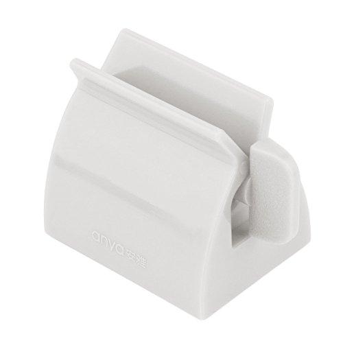 2 en 1 Tube de Roulement Presse de Dentifrice Accessoires de Salle de Bain Porte-brosse à Dents Blanc