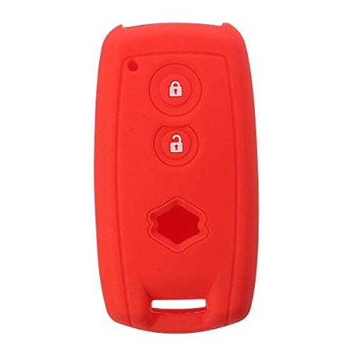 GOZAR Autoschlüssel Koffer Abdeckung Silikonschlüssel Abdeckung Fob Remote Case Für Suzuki Grand Vitara Sx4 Swift Xl-7-Rot