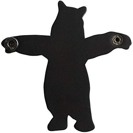 Street Cord (Der Stopper Hug Bär in-Ear Kopfhörer Cord Organizer Kabel Halter, schwarz)