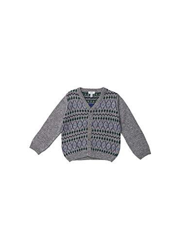 Knot Gestrickte Jacquardjacke Pullover Strickjacken für Jungen aus Wolle und Kaschmir von der portugiesischen Marke - Premium Qualität, Hergestellt In Portugal (24 Monate)