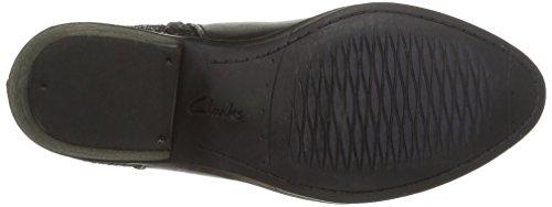 Clarks Gelata Italia, Boots femme Noir (Black Leather)