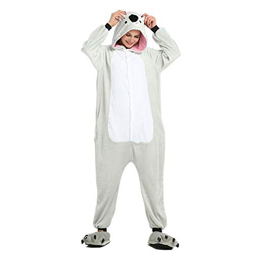 Jessica Unisex Adult Plüsch One Piece Pyjamas Koala Overall Anime Cosplay