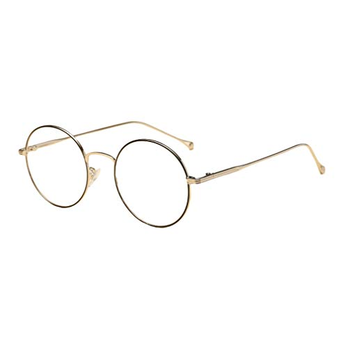 Hibote Männer Frauen Rund Brille - Klare Linse Brillengestell - Mode Brillen Eyewear - 18082308