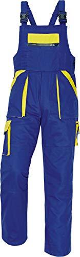 Stenso Max - Salopette da Lavoro Extra Resistente - Uomo Blu/Giallo 46