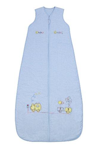 Ganzjahresschlafsack 2.5 Tog in blau für Jungs - Zug - 150 cm/6-10 Jahre ()