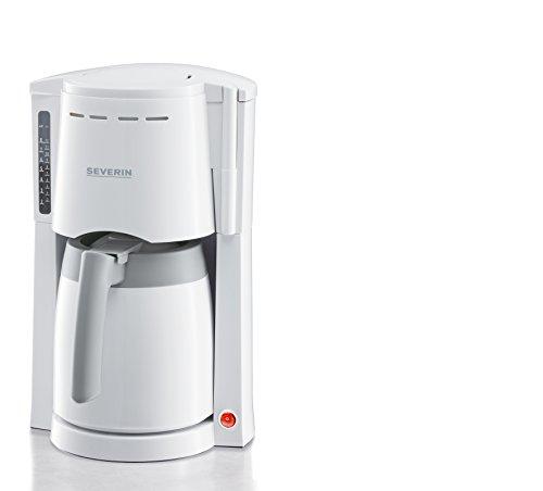 Severin 4114 Cafetière Filtre Isotherme 800 W 1 L Plastique Blanc/Gris 21,3 x 29,5 x 34,7 cm