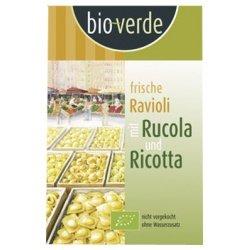 bio-verde Frische Ravioli mit Rucola & Ricotta inkl. Kühlverpackung (250 g) – Bio