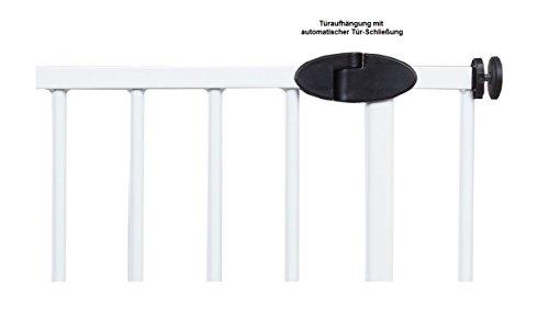 Impag Türschutzgitter Treppenschutzgitter mit Ampelfunktion 73 – 222 cm zum Klemmen Traffic Light + 30 Weiß - 5