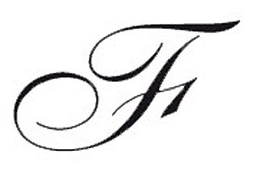 J.Herbin 40106T - Sello letra F (en cursiva, redondo, mango de madera)
