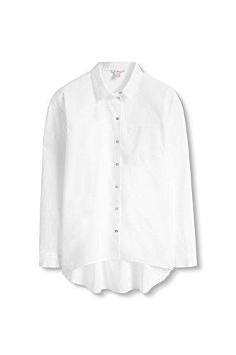 ESPRIT Damen Bluse Weiß (White 100)
