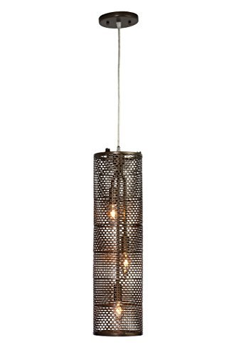 Lit-Mesh Test 3-Light Foyer Pendant - New Bronze Finish by Varaluz -