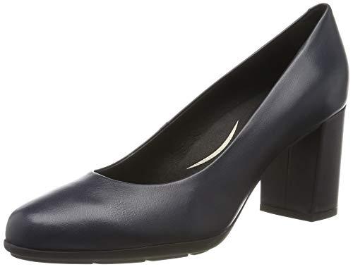 Geox D New ANNYA A, Zapatos de Tacón para Mujer, Azul Navy C4002, 37,5 EU