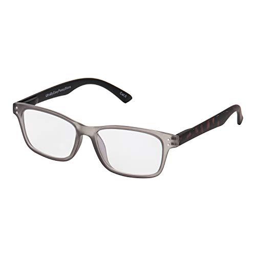Schildkrötenrahmen Grau Vorne Anti Blue Light Brille Blockiert UV-Filter Anti-Augen-Ermüdung Bei Der Verbesserung des Schlafes Männer Frauen Klare Transparente Unisex Computer-Gaming-Lesebrille