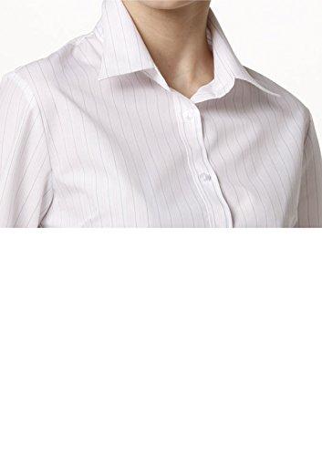 Leonis, Easy Care, camicia a maniche lunghe da donna popeline camicia a maniche lunghe in popeline Two color Stripe Purple