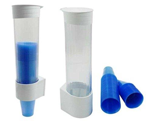 Becherspender (MultiCup Becherspender aus Kunststoff für Trinkbecher Ø 70mm, weiß / Neues patentiertes Design mit praktischer Einzelentnahme der Becher. Fassungsvermögen bis zu 200 Becher.)