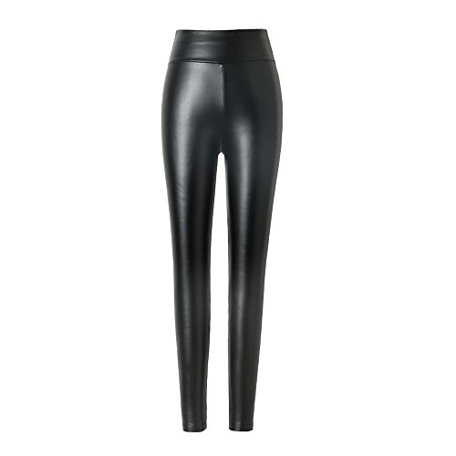 Damen kunstleder leggings Hitueu High Waist Leggings Hose Strumpfhosen Treggins Leggins Kunstleder Leggings Leder Look hüfthoch - Fleece Leggings