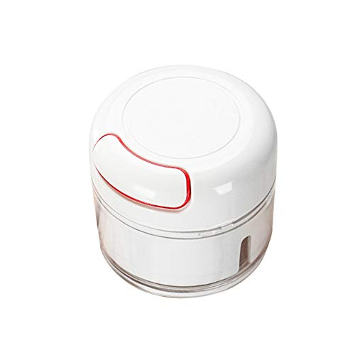 170ML Manual Mini Cortador Ajos Multifuncional Magnético Vegetal Slicer Alimentos Mano Tracción Pimienta Molinillo Acero Inoxidable Trituradora Jengibre Para Cocina