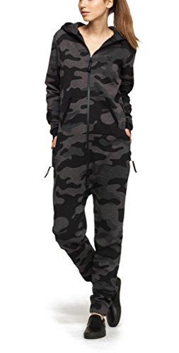 Onepiece Damen Jumpsuit Camouflage, Grau (Grey Melange) - 4