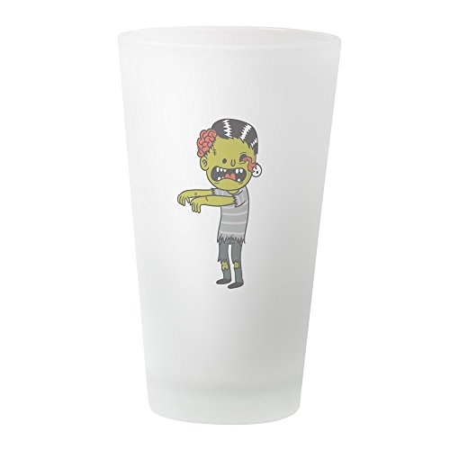 CafePress Halloween-Zombie-Pint-Glas, 473 ml Trinkglas frosted