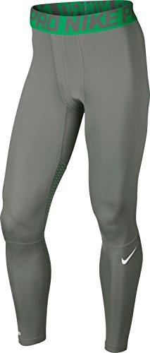Nike Hypercool Tight-Fitness- und Ausübung Laufhose für Herren, Herren, Gris/Verde/Blanco, Medium