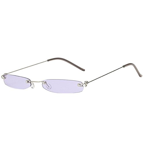 Dragon868 Herren/Damen Sonnenbrille Metallic Vintage Transparent Small Frame Sonnenbrille Retro Brillen (C)