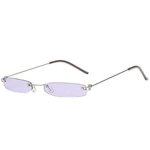 Dragon868 Herren/Damen Sonnenbrille Metallic Vintage Transparent Small Frame Sonnenbrille Retro...