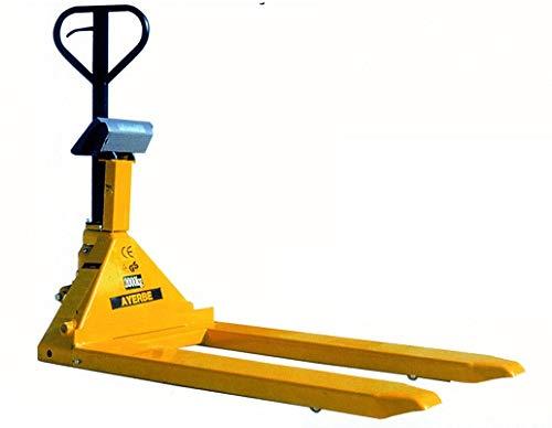 Ayerbe AY-2000-TE Transpaleta Manual con Terminal de Pesaje Integrada, Capacidad de Carga Hasta 2.000 kg