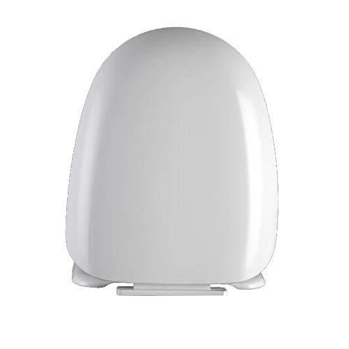 ME Harnstoff-Formaldehyd, antibakteriell, weiß, weich, langsam schließend, Toilettensitz leise, mit Schnellverschluss Oben, fest verstellbare Scharniere,White
