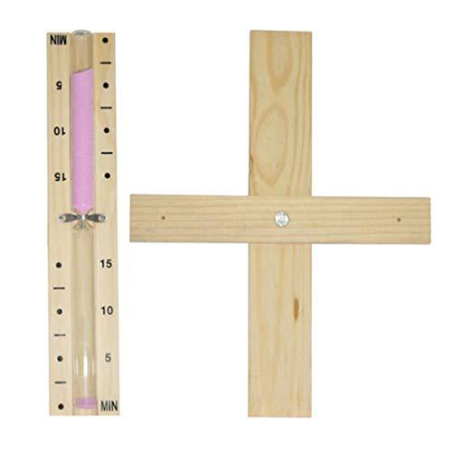 Artibetter Holz Sanduhr Sanduhr Timer 15 min zum Kochen Spiel Büro zu Hause