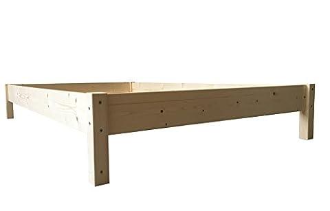 Futonbett Bett Holz Holzbett Massivholzbett 90 100 120 140 160 180 200 x 200cm, hergestellt in BRD (160 cm x 200cm)