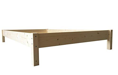 LIEGEWERK Futonbett Bett Holz Holzbett Massivholzbett 90 100 120 140 160 180 200 x 200cm, hergestellt in BRD (140 cm x 200cm)