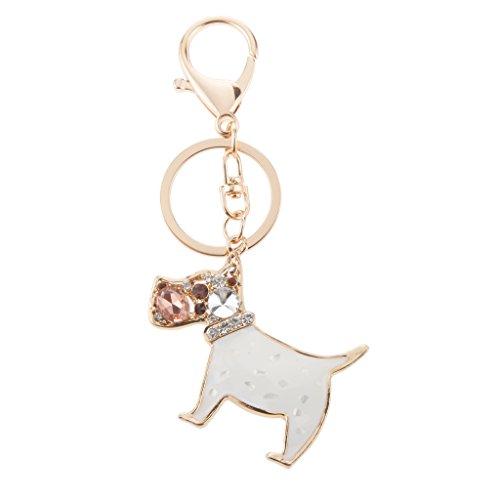 Niedlichen Pudel Hund Anhänger Schlüsselanhänger Karabinerverschluss - (Niedlichen Pudel)