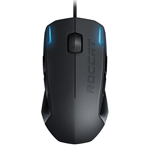 Roccat Kova+ - Ratón Gaming (Sensor Pro-Optic 3200 DPI, tecla Easy-Shift[+], ambidextro) negro